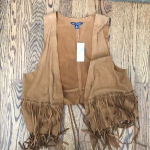 NWT American Eagle Size Medium suede vest!